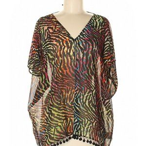 Andrew Charles over sized animal print tunic top M